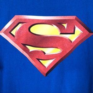 Superman Graphic Tee Shirt Men: L